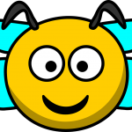 abeille souriante